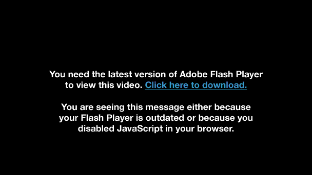 Porn Video flash disabled